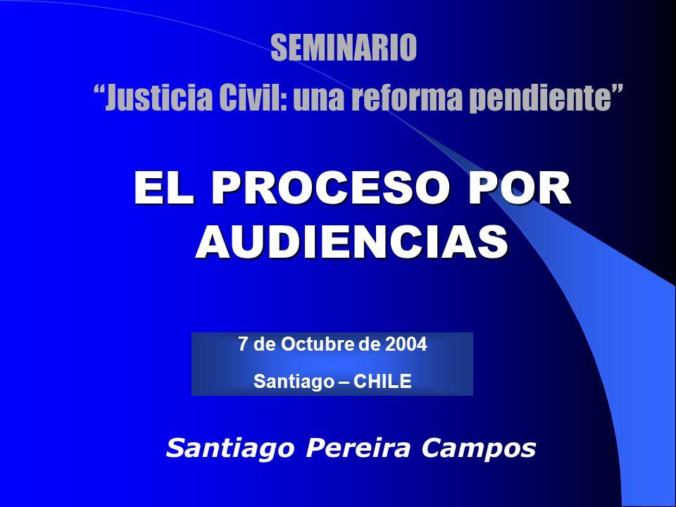 EL PROCESO POR AUDIENCIAS Santiago Pereira Campos