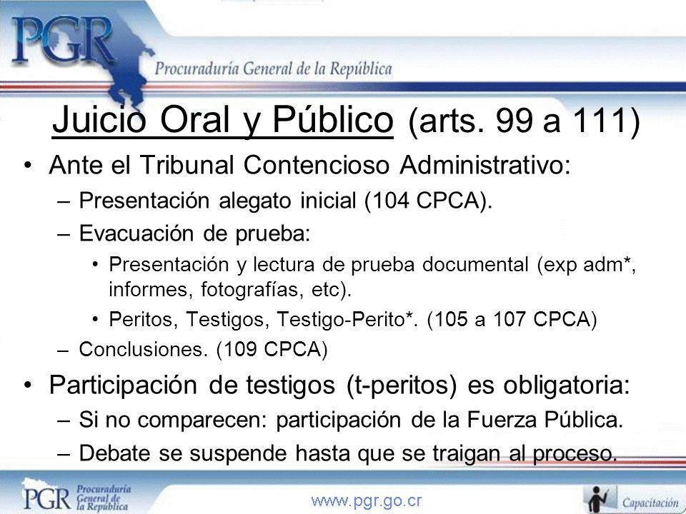 Juicio Oral y Público (arts. 99 a 111)