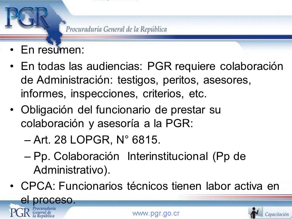 Pp. Colaboración Interinstitucional (Pp de Administrativo).