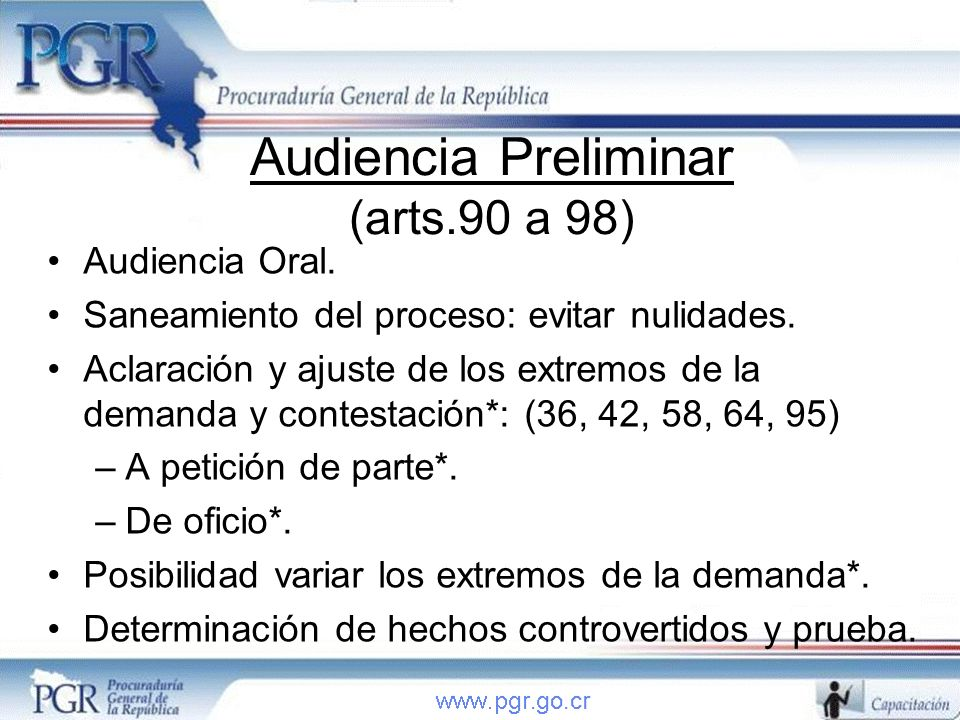 Audiencia Preliminar (arts.90 a 98)