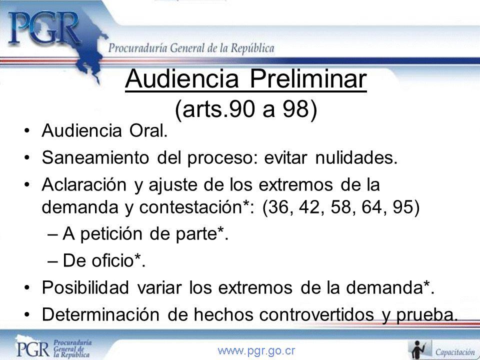 Audiencia Preliminar (arts.90 a 98)