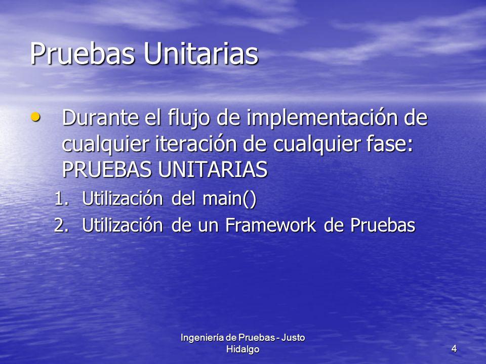 Ingeniería de Pruebas - Justo Hidalgo