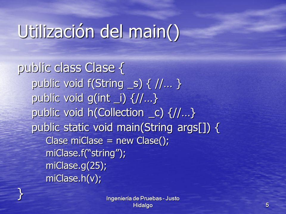 Utilización del main()