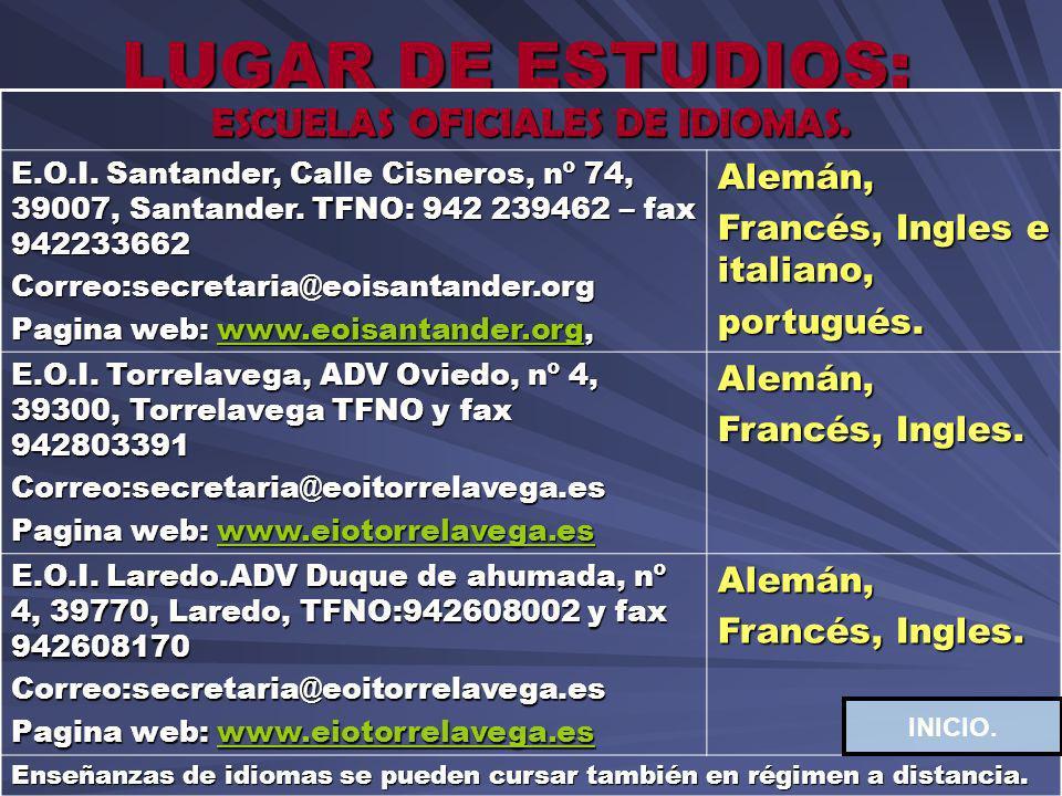 ESCUELAS OFICIALES DE IDIOMAS.