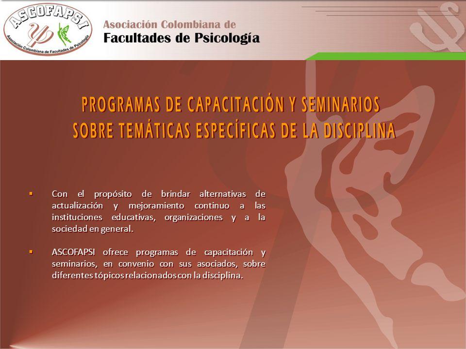 PROGRAMAS DE CAPACITACIÓN Y SEMINARIOS