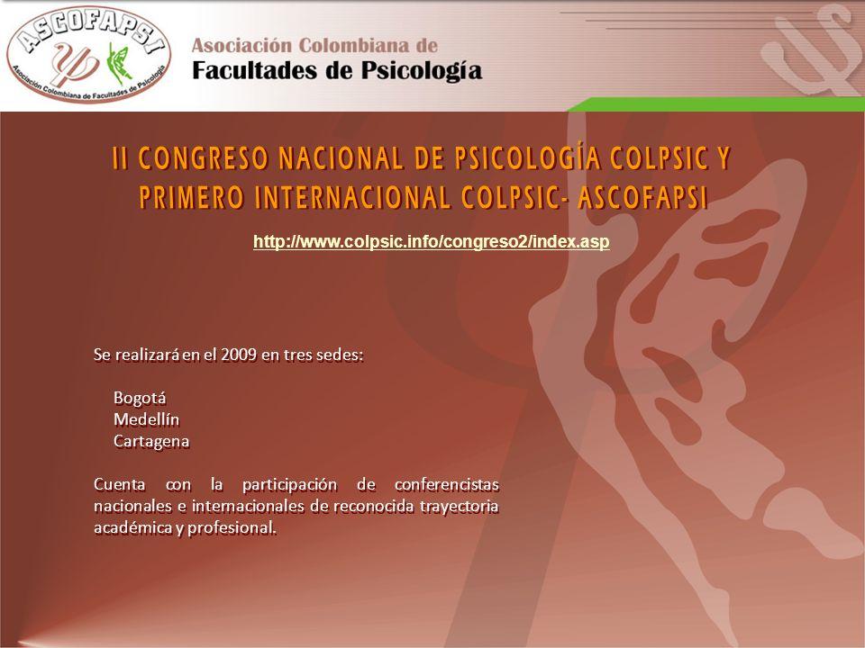 II CONGRESO NACIONAL DE PSICOLOGÍA COLPSIC Y