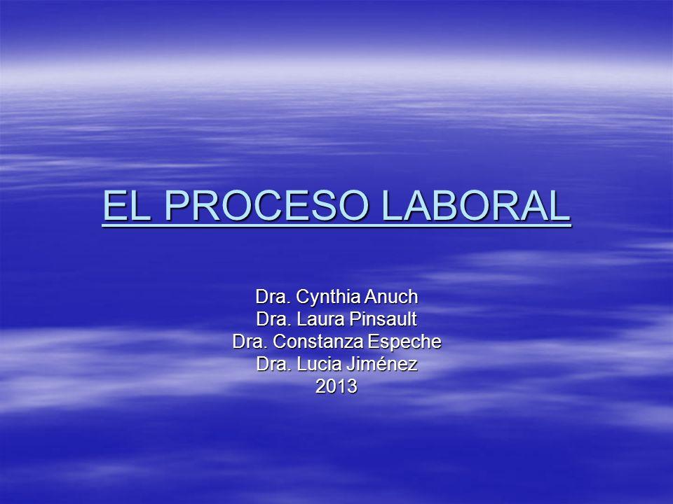 EL PROCESO LABORAL Dra. Cynthia Anuch Dra. Laura Pinsault