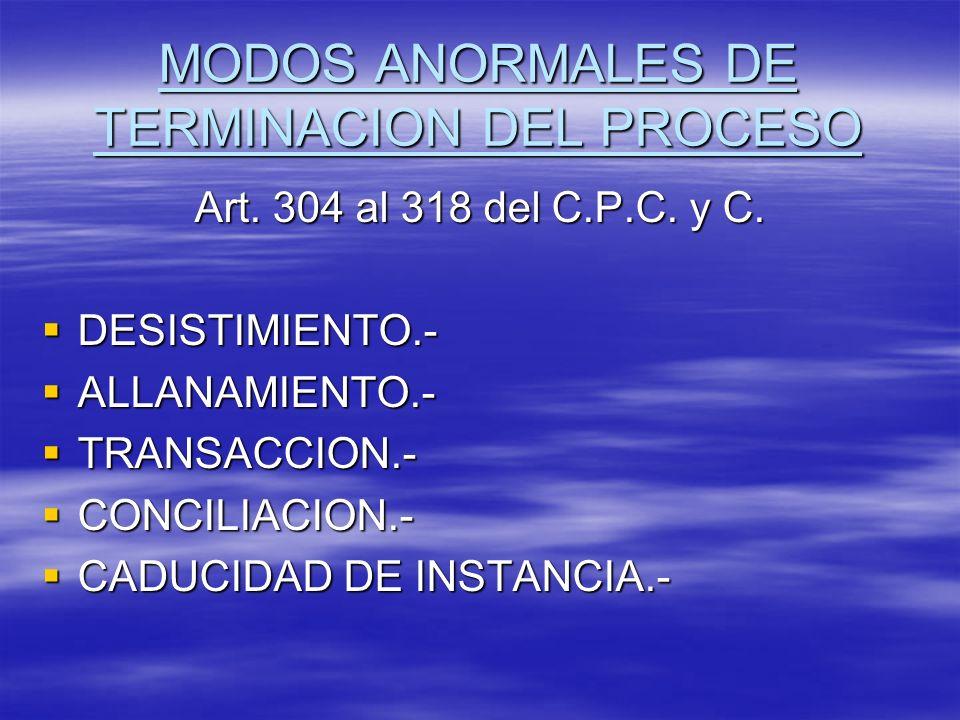 MODOS ANORMALES DE TERMINACION DEL PROCESO