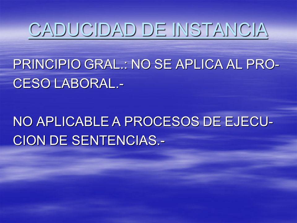 CADUCIDAD DE INSTANCIA