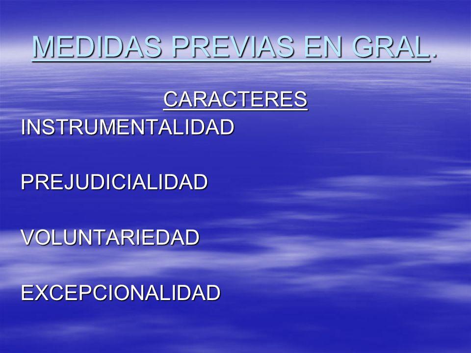 MEDIDAS PREVIAS EN GRAL.
