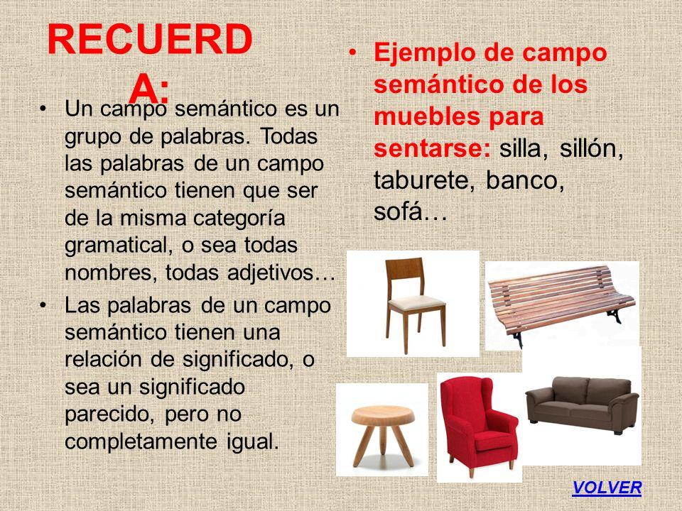Fragmento trozo de el cantar de m o cid 2 ppt for Campo semantico de muebles