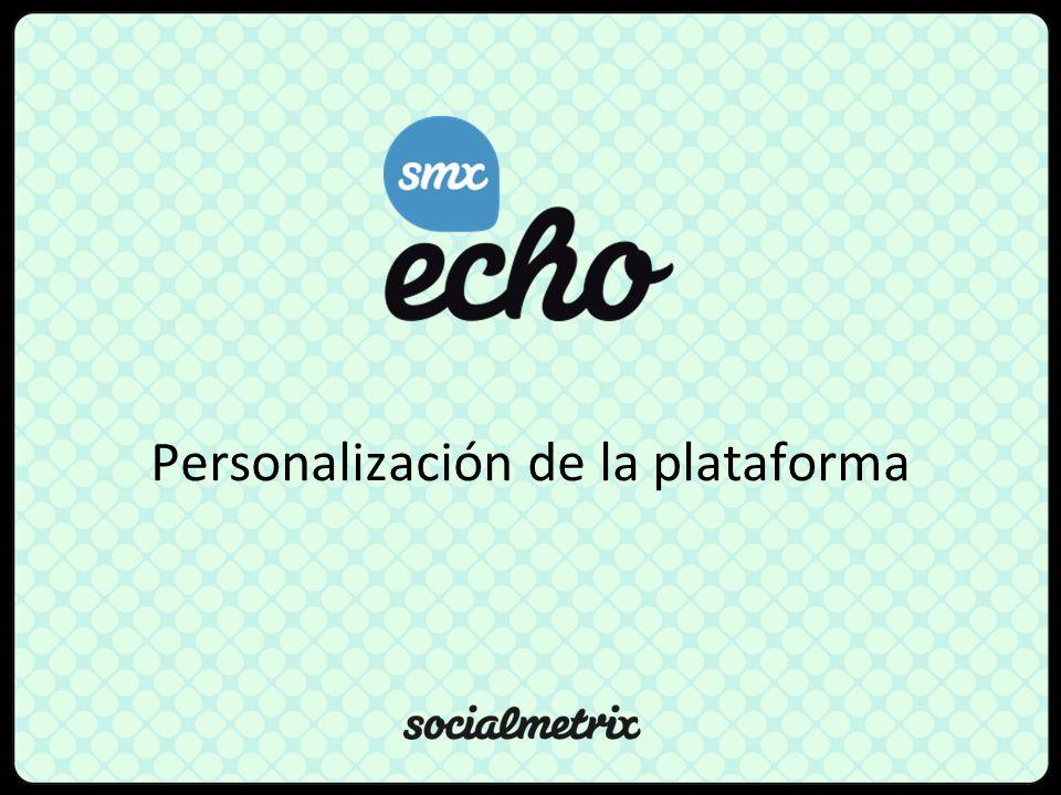 Personalización de la plataforma
