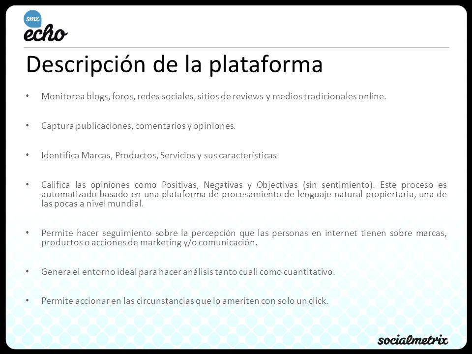 Descripción de la plataforma