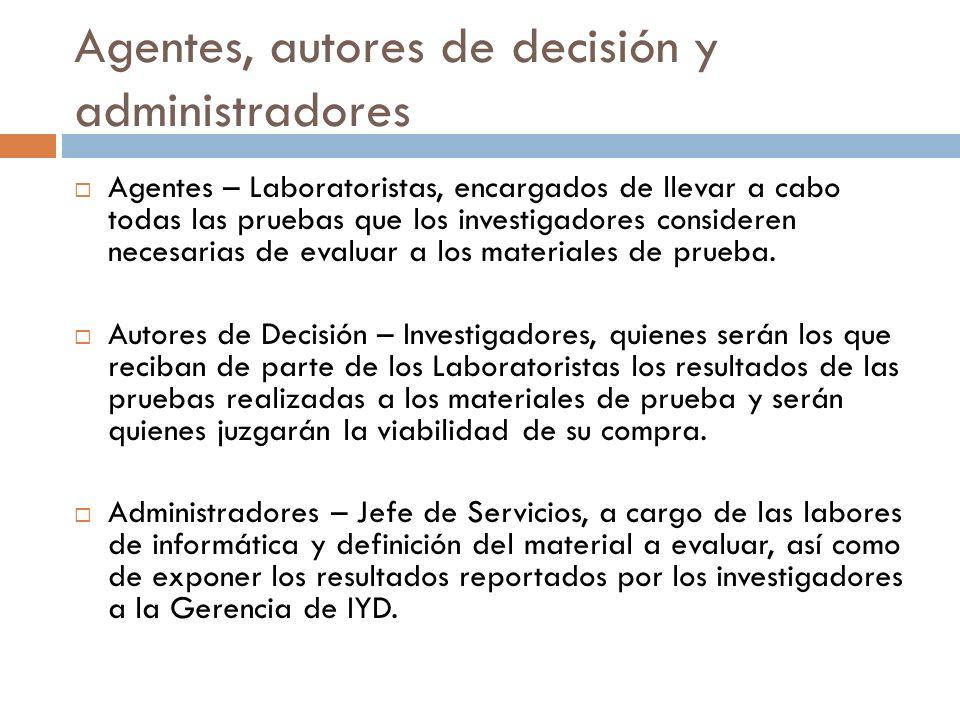 Agentes, autores de decisión y administradores