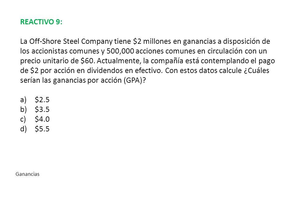 REACTIVO 9: