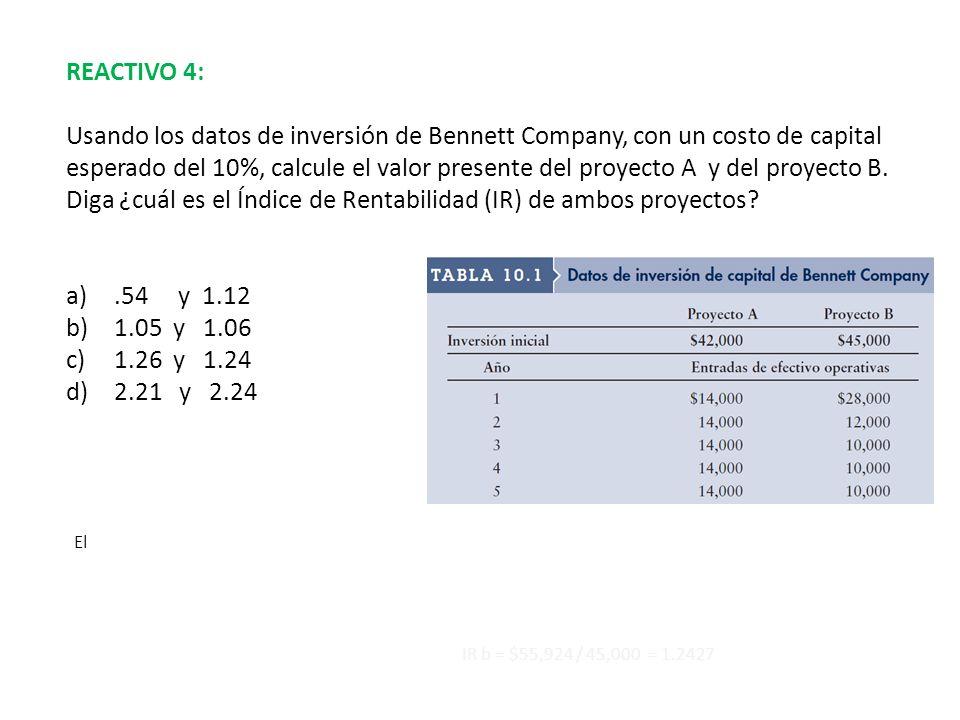 REACTIVO 4: