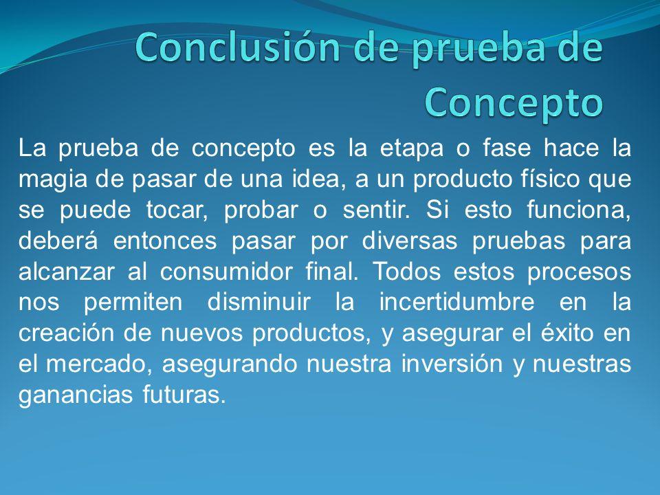 Conclusión de prueba de Concepto