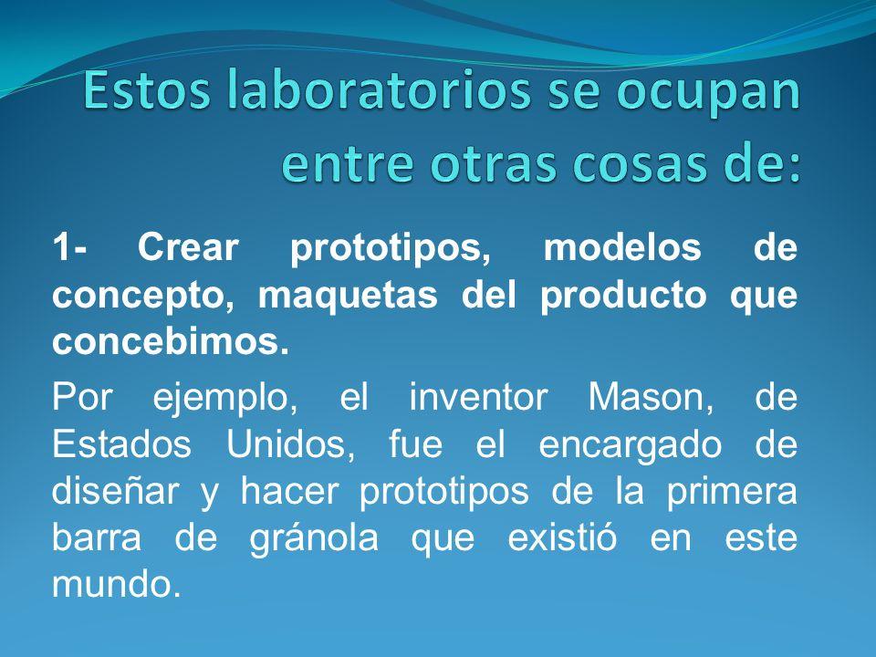 Estos laboratorios se ocupan entre otras cosas de: