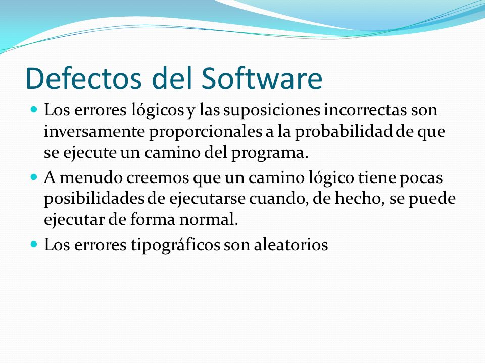 Defectos del Software