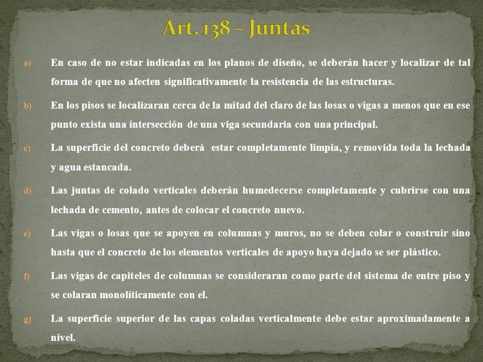 Art. 138 – Juntas