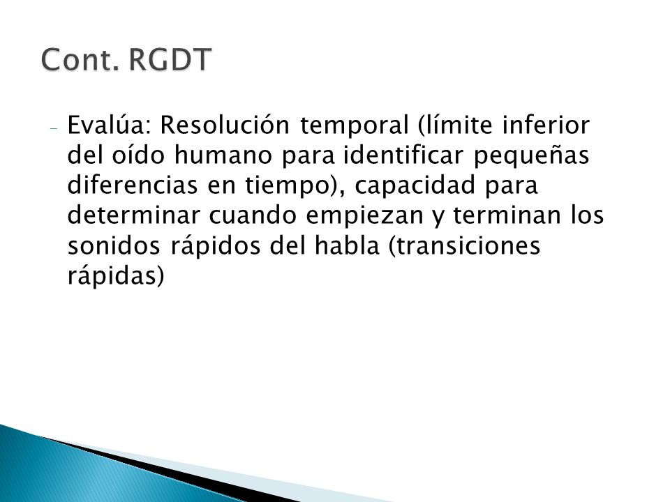 Cont. RGDT