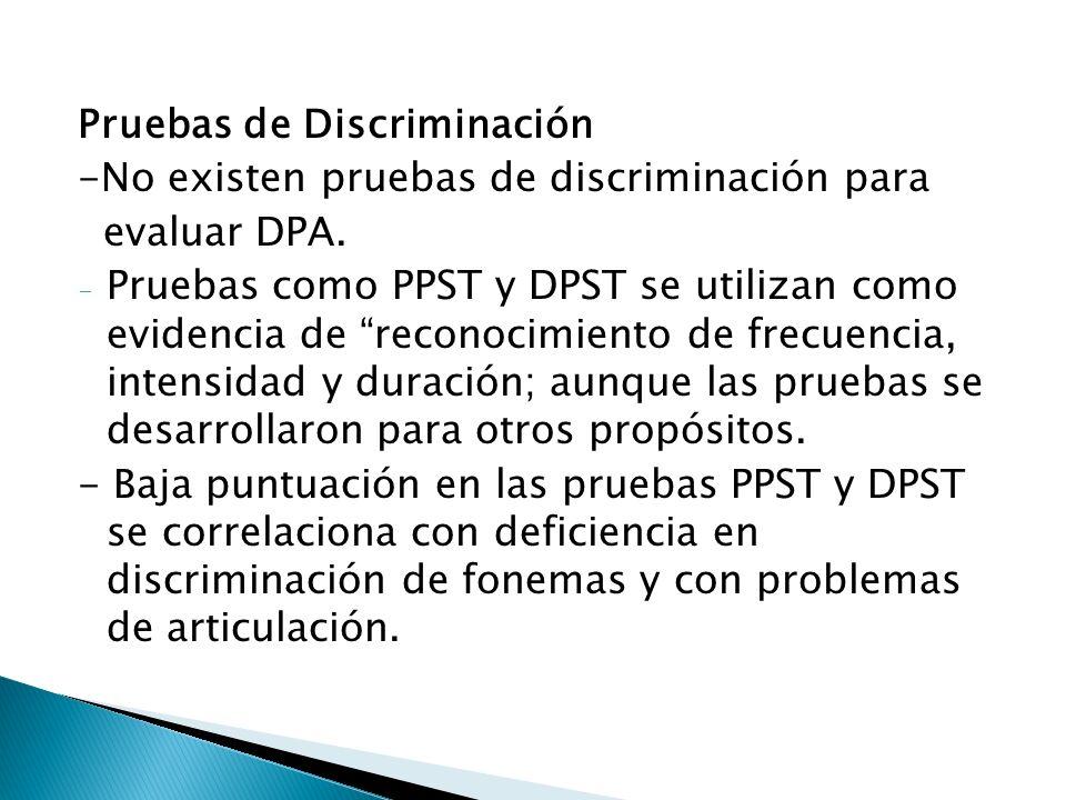 Pruebas de Discriminación