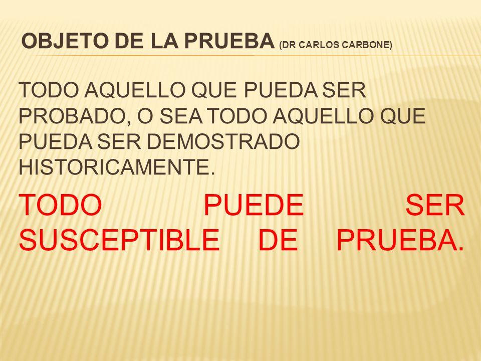 OBJETO DE LA PRUEBA (DR CARLOS CARBONE)