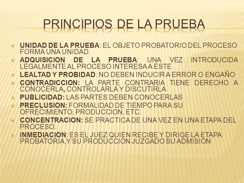 PRINCIPIOS DE LA PRUEBA