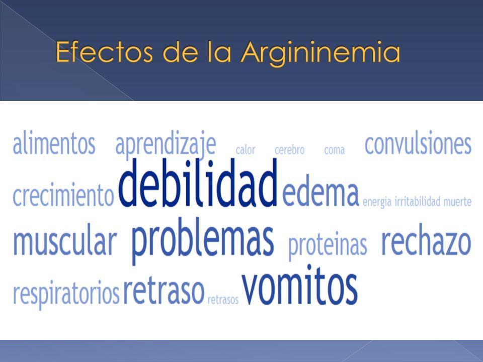 Efectos de la Argininemia