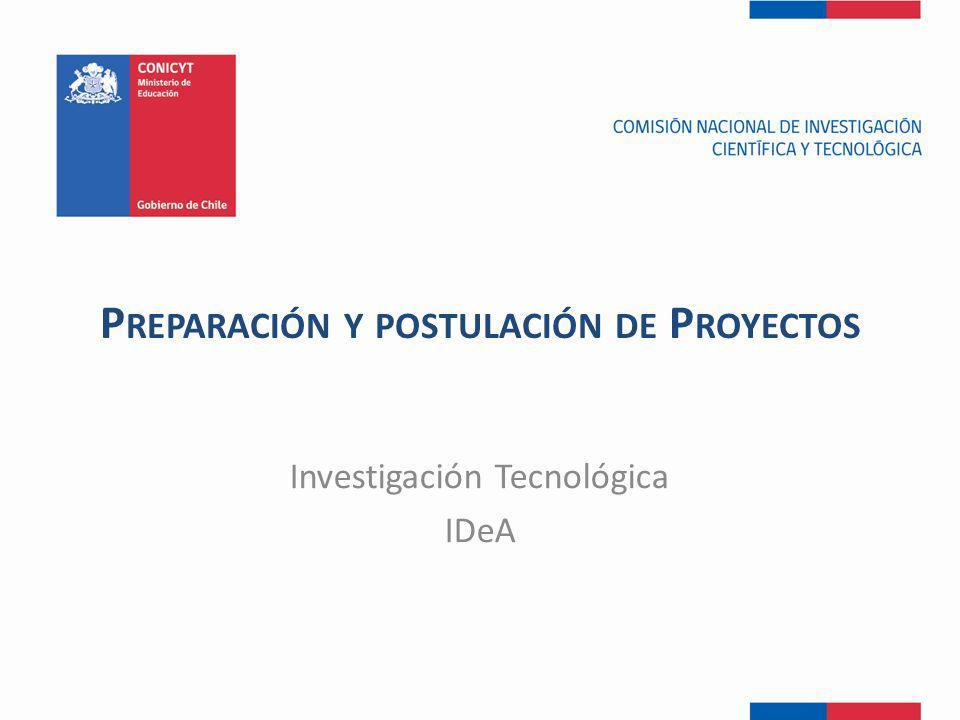 Preparación y postulación de Proyectos