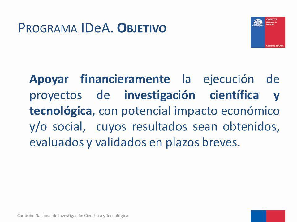 Programa IDeA. Objetivo