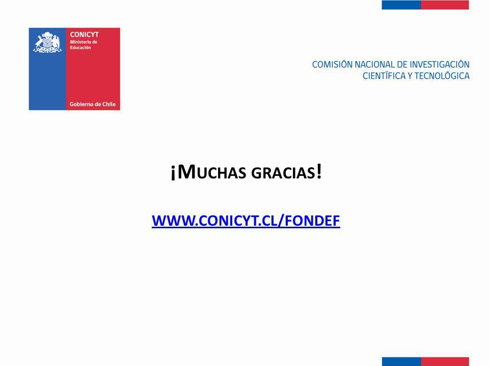 ¡Muchas gracias! www.conIcYt.cl/fondef