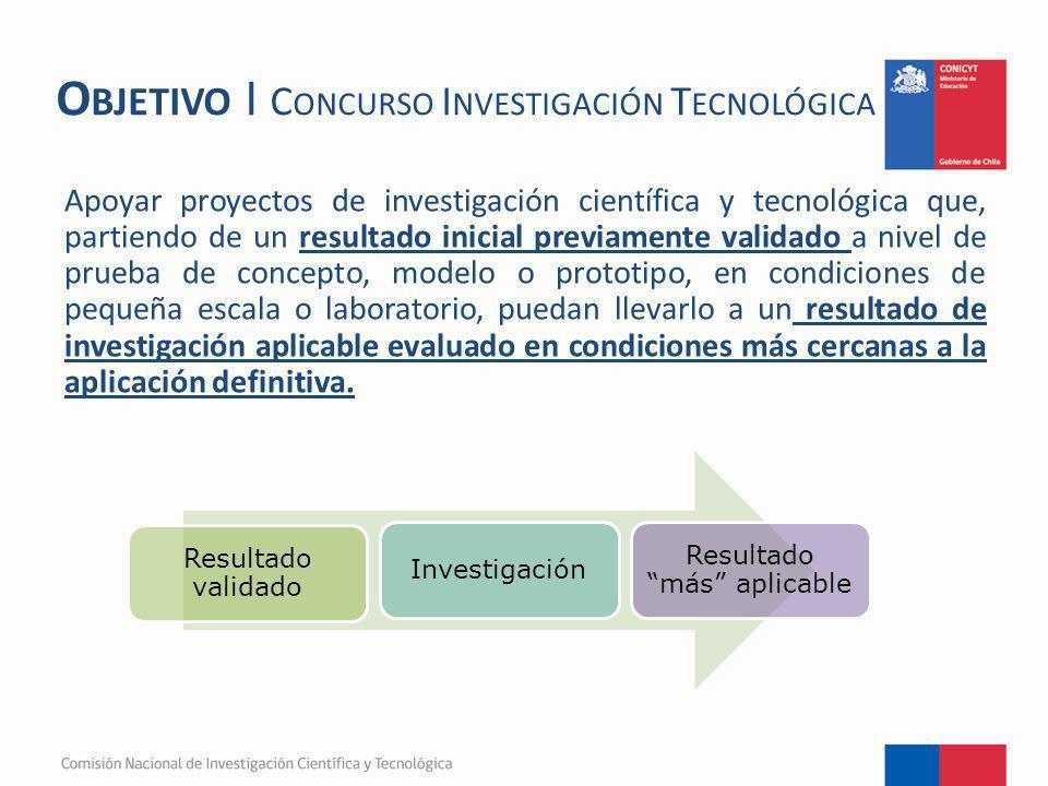 Objetivo I Concurso Investigación Tecnológica