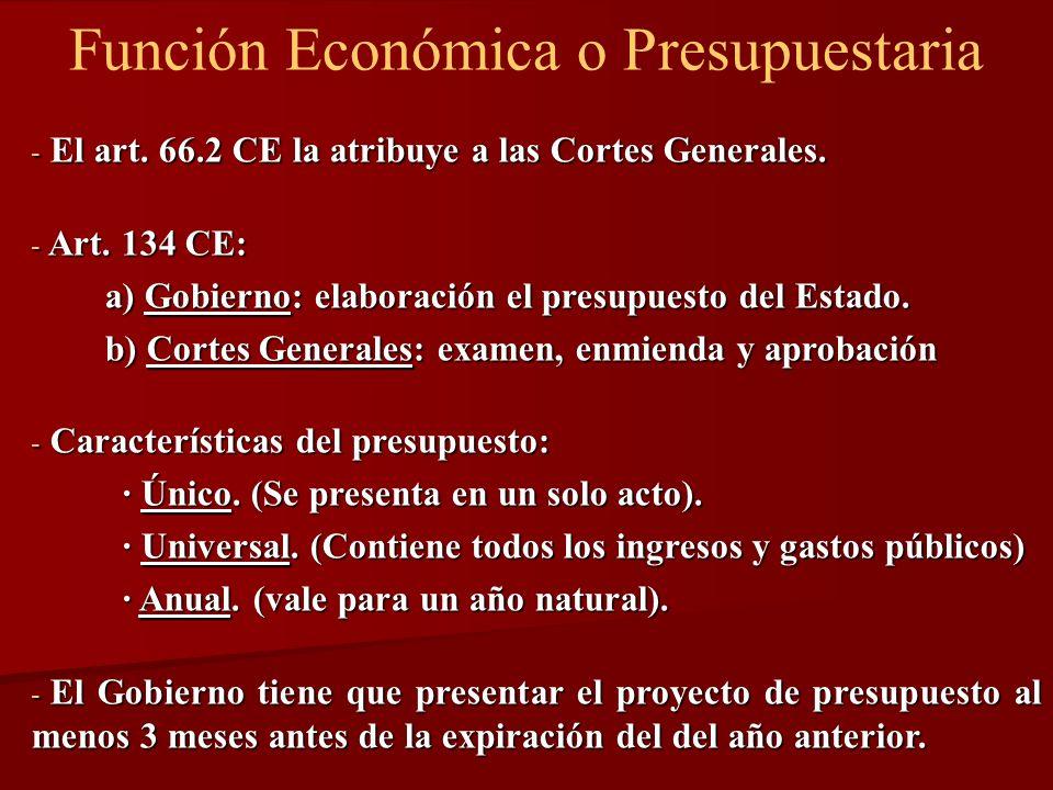 Función Económica o Presupuestaria