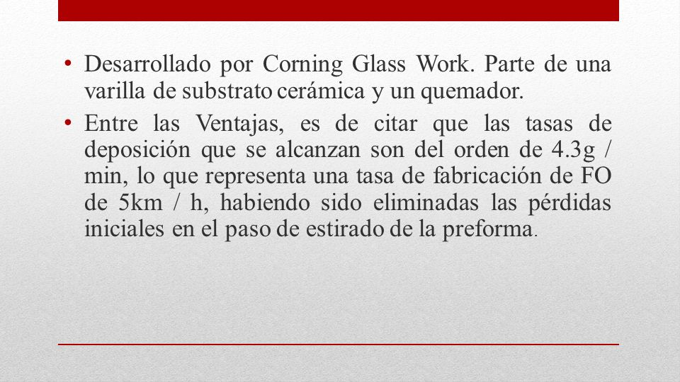 Desarrollado por Corning Glass Work