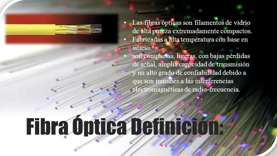 Fibra Óptica Definición: