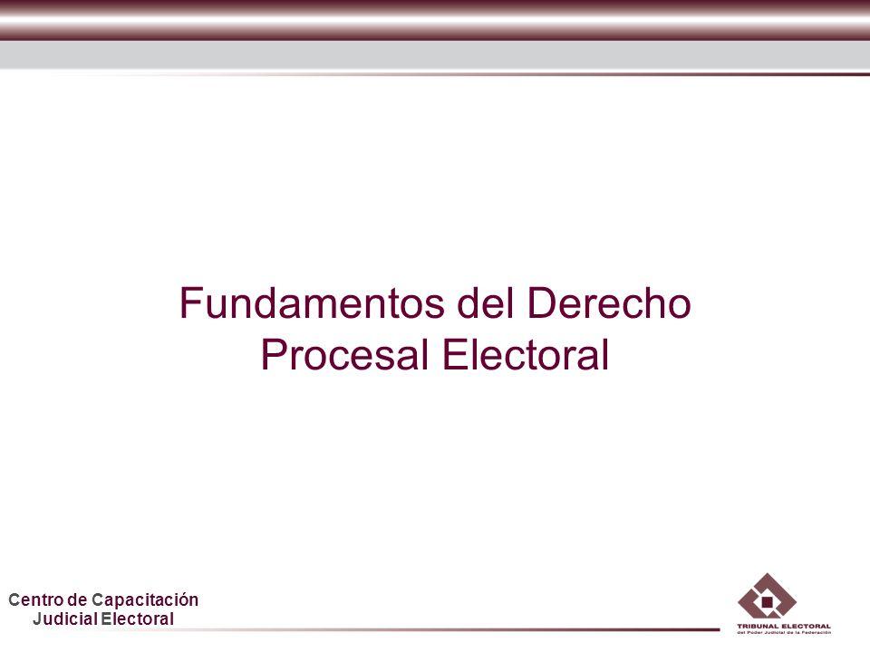 Fundamentos del Derecho Procesal Electoral