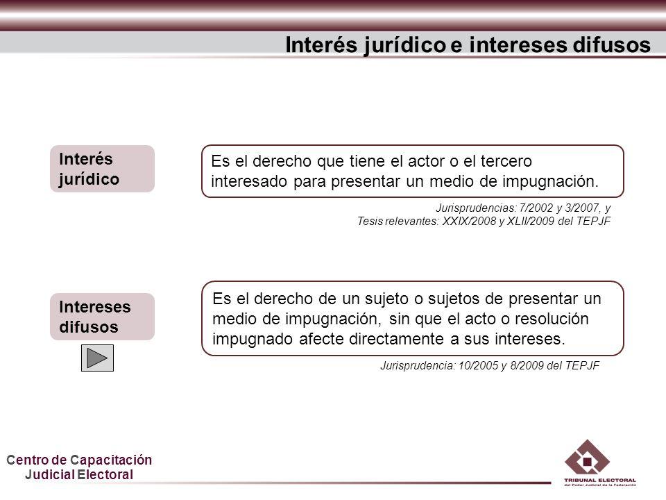 Interés jurídico e intereses difusos