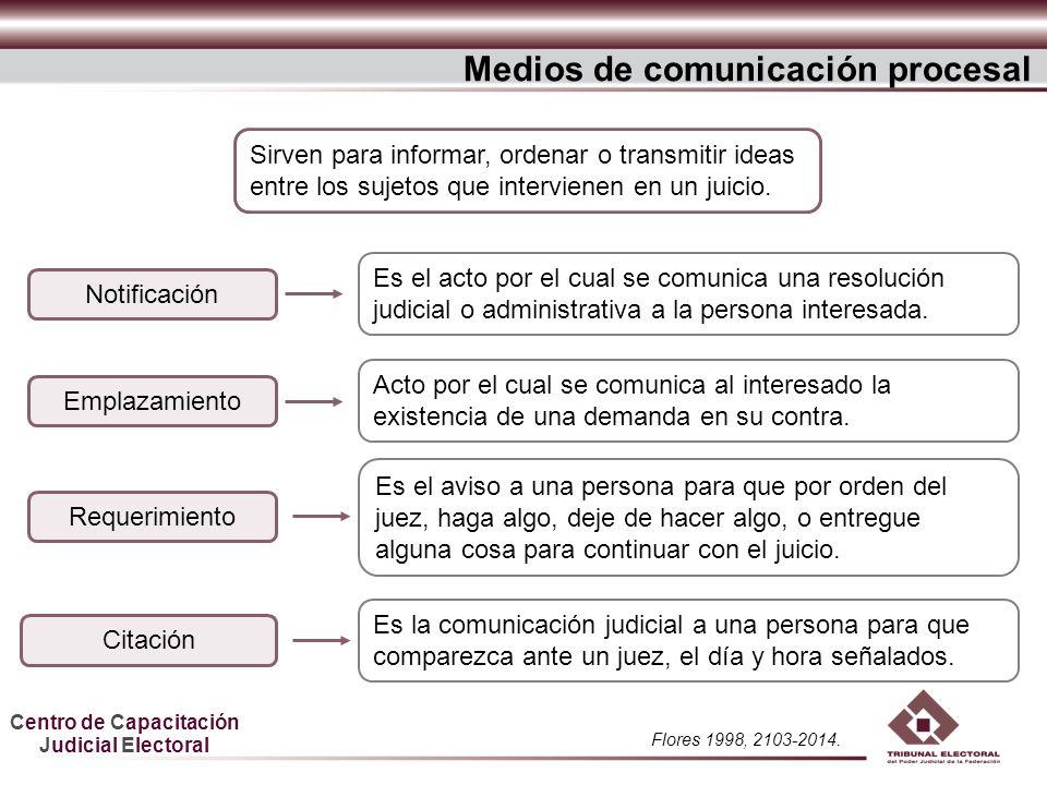 Medios de comunicación procesal