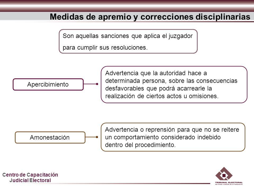 Medidas de apremio y correcciones disciplinarias