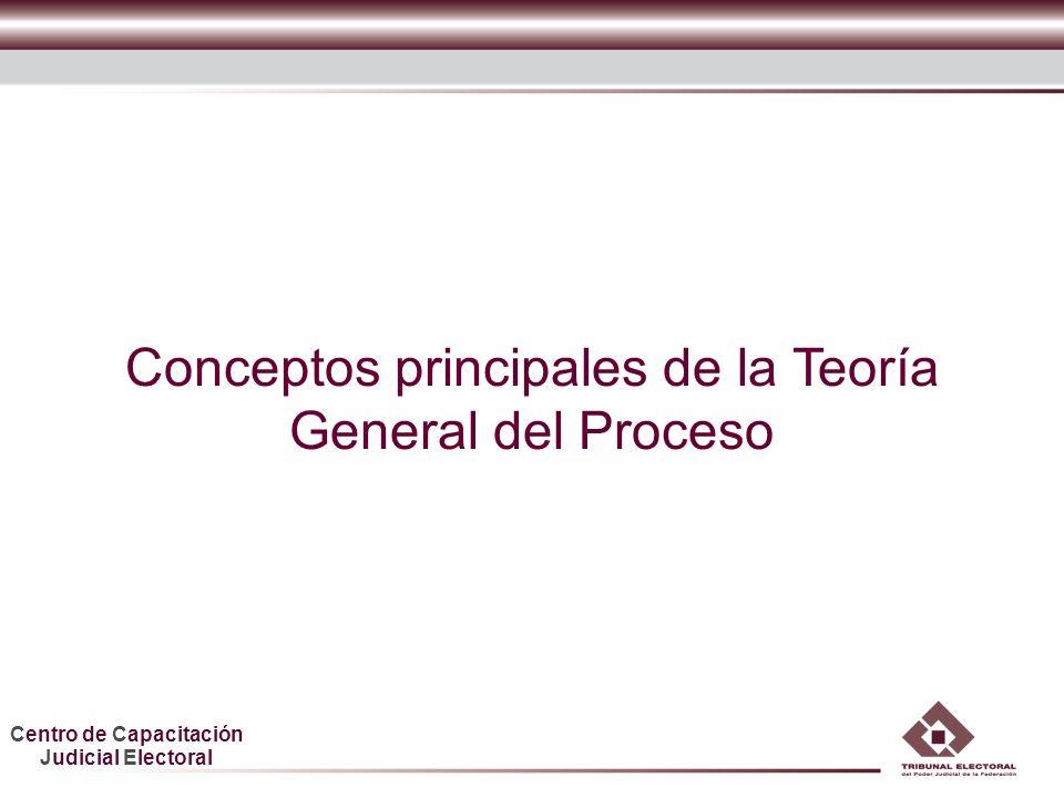 Conceptos principales de la Teoría General del Proceso