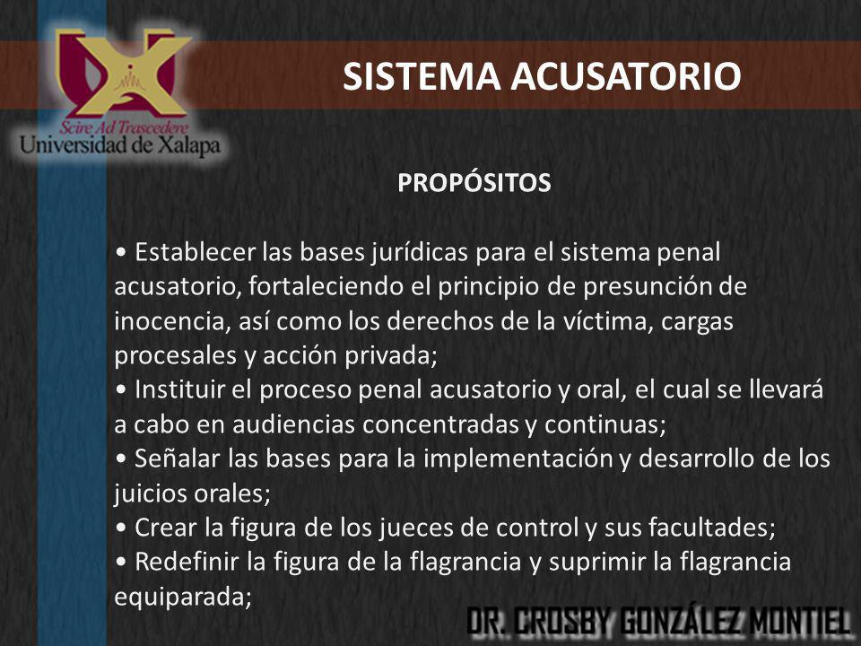 SISTEMA ACUSATORIO PROPÓSITOS