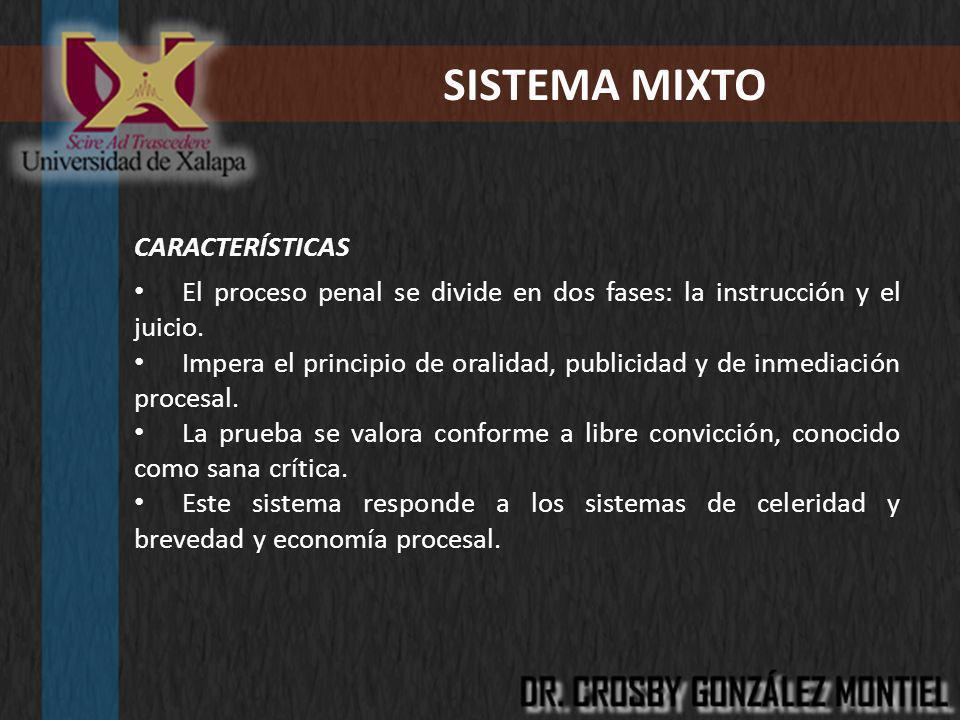 SISTEMA MIXTO CARACTERÍSTICAS