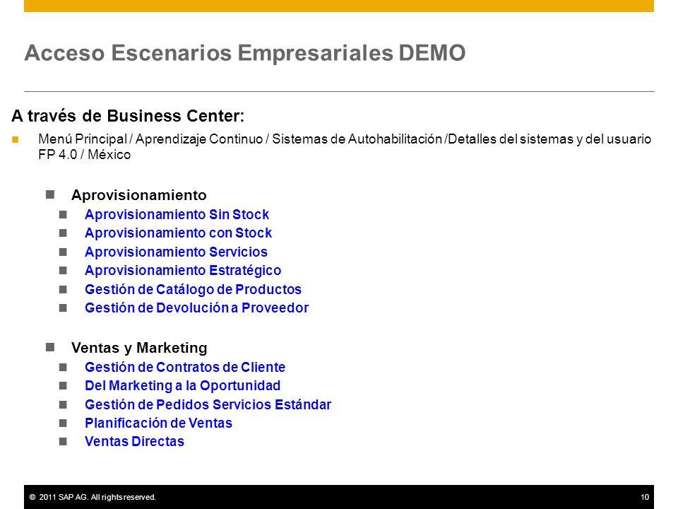 Acceso Escenarios Empresariales DEMO
