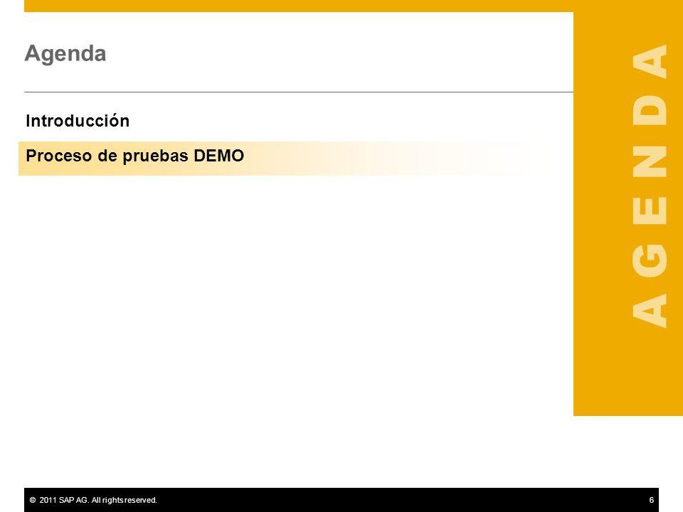 A G E N D A Agenda Introducción Proceso de pruebas DEMO