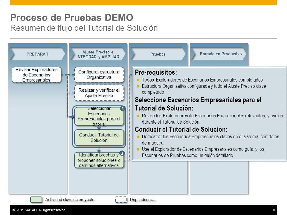 Proceso de Pruebas DEMO Resumen de flujo del Tutorial de Solución