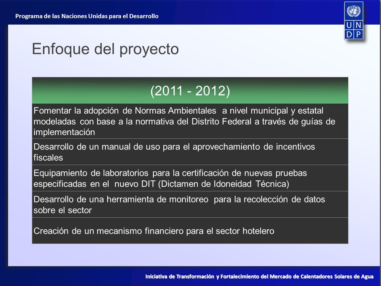 Enfoque del proyecto (2011 - 2012)