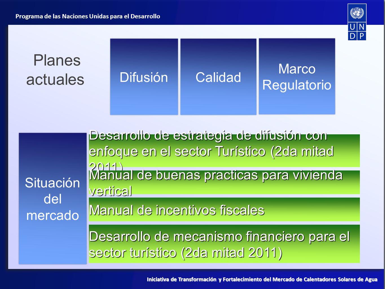 Planes actuales Difusión Calidad Marco Regulatorio