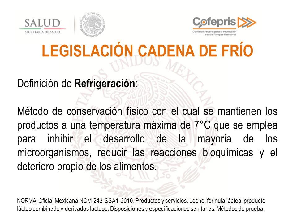 LEGISLACIÓN CADENA DE FRÍO
