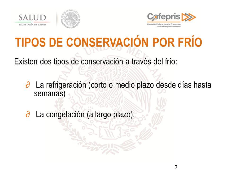TIPOS DE CONSERVACIÓN POR FRÍO